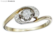 "Bague Antique ""altschliff diamant et roses diamants"" 585er Jaune-et diadème"