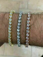 Men's Women's Tennis Bracelet SOLID 925 Sterling Silver ITALY Single Row