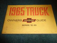 1965 CHEVROLET TRUCK OWNER'S MANUAL / ORIGINAL GUIDE BOOK PICKUP SUBURBAN PANEL