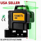 Green Light Laser Level 3x360° 3D Rotary Auto Self leveling KAIWEETS KT360B