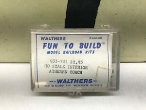 Walthers Ho Scale Interior for Athearn Coach Cars New Old Stock 933-721