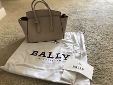 Bally Switzerland Woman's Leather Sommet Medium Handbag BNWT & Receipt Nude