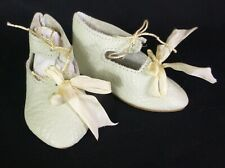 "85mm LEATHER SHOES  for ANTIQUE DOLL , ""Jumeau""  Shoes , Dollmaking,"