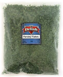 Dried Parsley Flakes All Natural by Its Delish, 4 Oz Bag
