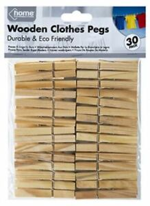 Wooden clothes pegs for washing line wood peg gardens airer dry from 4p per peg.
