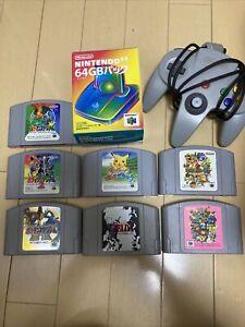 Nintendo 64 N64 Cartridge Game Lot of 7 Pokemon Stadium Zelda GBpack Controller
