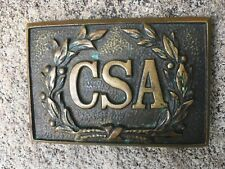 Confederate Belt Plate Buckle, Csa In Wreath by Hanover Brass