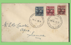 Samoa 1935 KGV Silver Jubilee issue on cover, Local used