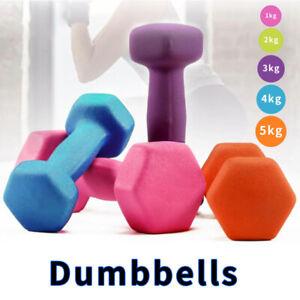 Neoprene Dumbbells Set 1-5kg Dumbell Weights Pair For Home Gym Fitness Exercise