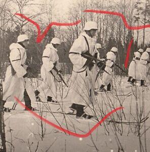 Foto WH Soldat Wintertarn Spähtrupp Schneetarn Rußland MP40 Ski Einsatz #236