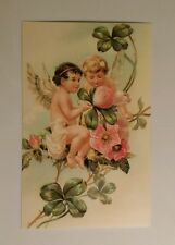 Reproduction Victorian Angels Cupids Valentine Flowers -  Postcard #9