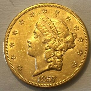 1857 S  $20 DOUBLE EAGLE GOLD COIN