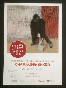 CHARMING BAKER , hand signed, lithographic exhibition poster, 2011.