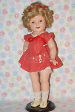 "SALE!!!!! BEAUTIFUL! Vintage 18"" Shirley Temple Composition Doll Music"