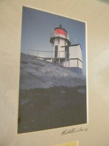 Fine Art Photo SQUIRREL POINT LIGHT Lighthouse 1898 Maine NEW 8x10 Artist Signed