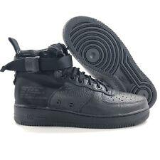 on sale d2dbc 3896b Nike SF AF1 Mid Air Force 1 Triple Black 917753-005 Men s 10-10.5