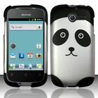 For Huawei Ascend Y H866C Rubberized HARD Case Snap On Phone Cover Panda