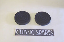 AUSTIN PRINCESS A125 A135  ROUND CLUTCH &  BRAKE PEDAL RUBBERS NEW PAIR (C724)