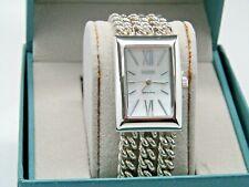 Ecclissi Sterling Silver Multi-Strand Bracelet Watch  Silver