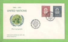 Norway 1970 25th Anniversary of United Nations set on First Day Cover