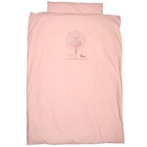 TAFTAN Kinderbettwäsche 135x200 cm rosa mit lustigem Pudelmotiv