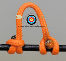 3 Pack Sunset Orange Archery Release Bow String Nock D Loop Bowstring Bcy #24