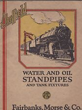 VINTAGE CATALOG #2706 -  1926 SHEFFIELD TRAIN WATER - OIL STANDPIPES - FIXTURES