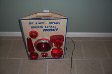 Brake Light Lens Gas Station Display Stand Chevy Ford Collectible Rare Hot Rod