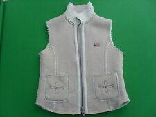 Ca Compagnie Girls Faux Suede Vest Coat