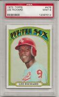 1972 TOPPS #476 LEE RICHARD, PSA 9 MINT, CHICAGO WHITE SOX, L@@K !