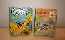 Lot of 2 Big Little Books Goofy Giant Trouble & Donald Duck Lost Jungle City B52