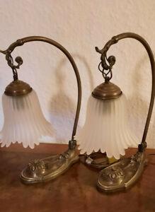 2 x Jugendstil Tischlampe, Lampe, Nachttischlampe, Tischleuchte, Nachlass