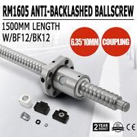 1 Anti Backlash Ball screw RM1605-1500mm Ballscrews+1 Set BK/BF12+1 pcs Coupler