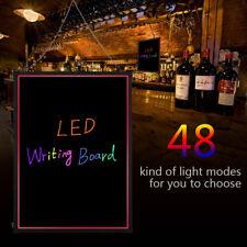 "Flashing Illuminated Erasable Neon Led Message Menu Sign Writing Board 32""x24"""