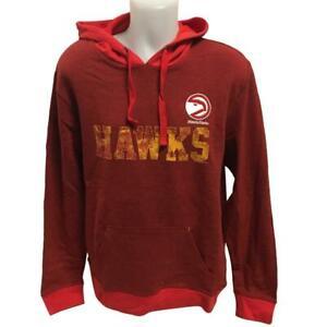 NBA Men's New Atlanta Hawks Hoody Sweatshirt Medium Large 2X Distressed Hoodie