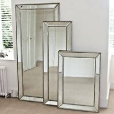 MIRROR - HOME DECO SILVER  BEADED CLASSIC BEVELLED MIRROR FRAME  (MM19)