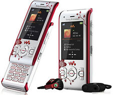Sony Ericsson W595 Walkman Slider White flowers Mobile Phone Free Shipping