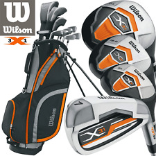 """NEW 2017"" WILSON X31 MENS COMPLETE GOLF SET +DELUXE GOLF STAND BAG / 1"" LONGER"