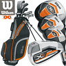 "WILSON 2018 X31 MENS COMPLETE GOLF PACKAGE SET +GOLF STAND CARRY BAG +1"" LONGER"