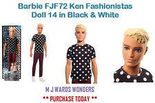 Muñeca Barbie FJF72 Ken Fashionistas 14 en blanco y negro
