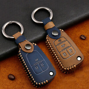 Leather Remote Key Case Cover Fob Holder Shell Keychain For Chevrolet/Buick/Opel