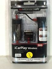 Monster iCarPlay Wireless 500 FM Transmitter Charger for iPod and iPhone