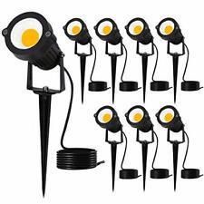 New listing Yomosa 7W Led Landscape Lights Pathway Lighting 12V/24V Low Voltage (8pack)