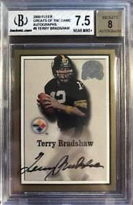 2000 Fleer Greats Of The Game Gold Autographs #8 Terry Bradshaw BGS 7.5 POP 1