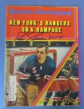 Eddie Giacomin Signed Autographed 1970 Sports Illustrated New York Rangers