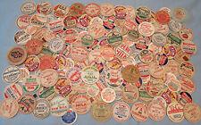 Lot of 134 Vintage Milk Dairy Bottle Caps