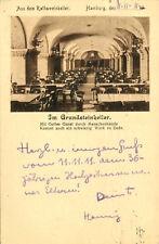 AK Hamburg 1911 Rathaus Rathsweinkeller Grundsteinkeller geschrieben am 11.11.11