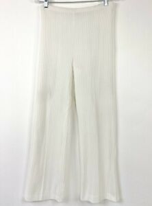 Vintage 70s Catalina Women's Pants High Waist White Ribbed Size 9/10 Fits Small
