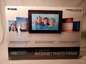 "Wireless Internet Photo Frame 10"" D-Link 1GB"