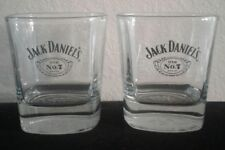 Jack Daniel's Old No. 7 Whiskey Rock Glass Tumblers Set Of 2 Ships Free in USA